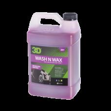 WASH N WAX - РH-СБАЛАНСИРОВАННЫЙ ШАМПУНЬ С ВОСКОМ, 3.78 Л, 201G01, 3D