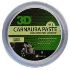 Воск карнаубы с усилением блеска и глубиной цвета 3D (327g) - Carnauba Paste Wax Paste 412