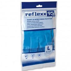 Многоразовые защитные перчатки, нитриловые 33 см. Reflexx R95-L. 44 гр. Толщина 0,22 мм