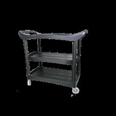 Пластиковый стол на колесиках. Место полировщика, тележка